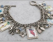 If the Shoe Fits, Vintage Looking Charm Bracelet