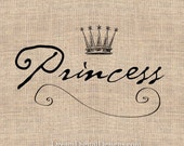 Princess Digital Download for Image Transfer to Fabric Pillows Burlap Scrapbooking Printable Image No.203