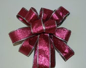 Pink Glitter Bows Set of 2