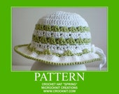 PATTERN Crochet Hat SPRING pdf patterns