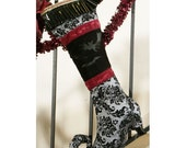 Victorian Goth Nightmare Before Christmas Stocking