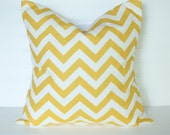 Chevron Yellow Pillow Cover 18x18 - TheLaceyPlacey