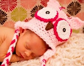 PDF Owl Hat Crochet Pattern ALL sizes Infant Baby Toddler Child Adult
