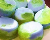 SEA LILY Soap,  Pretty, Natural SOAP  in Blue and Green Beautiful Scent