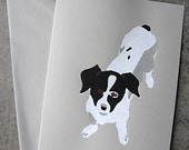 Dog Blank Greeting Card, Black and White Dog Card, Blank Greeting Card, Winston