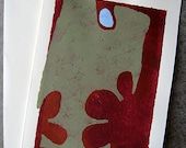 Abstract Greeting Card, Blank Greeting Card, Any Occasion Card, Flowers, Petals & Dew