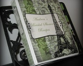 Eiffel Tower Personalized Recipe Book with 4 Color Options