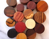 "3 Pack of Beautiful Custom Handmade Organic Plugs, 18 woods to choose from. 4g- 3/4"" Larger sizes available"