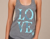 LOVE Eco Racerback Tank Top in Grey