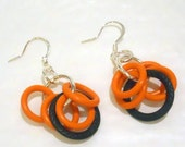 50% Off cjBlue Seasonal Orange and Black Dangle Earrings