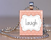 Laugh Scrabble Tile Pendant