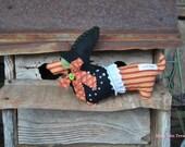 Dachshund Doll- Halloween Witch-Help Support Dachshund Rescue