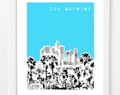 Los Angeles Skyline Poster - California City Art Print 8x10