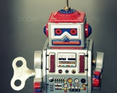 Robot Tin Toy 5 x 7 photograph print