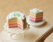 Miniature Food - Dollhouse Rainbow Cake