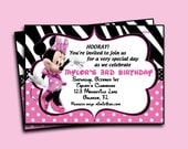 Minnie Mouse Invitation - Printable