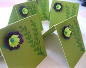 Miniature Cards - Designer Flower Mini Note Cards - Set of 5