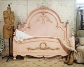 Painted Cottage Romance Queen Shabby Pink Bed BD209