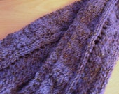 SALE ITEM Purple Knitted Scarf, OOAK