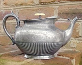 Antique 1896 Victorian Silver Trophy Teapot
