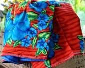 Vintage Hawaiian Baby Blanket Handmade