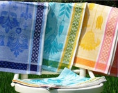 Linen Towels -Flowers-
