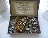 Vintage Box and Button Covers Defiance Button Machine Company