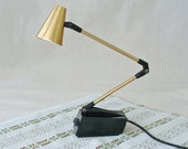 Vintage Gold Tone Tensor High Intensity Desk Lamp
