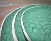 seafoam zinnia plates