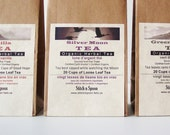 4 bags of your own Organic Tea Selection - Personalized Eco friendly Gifts
