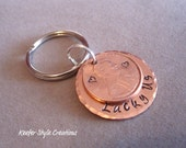 Keychain-Copper Lucky Us with Penny added - KeeferStyleCreations
