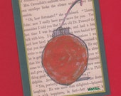 The Red Ornament Holiday Note Card