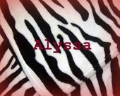 Zebra Print Blanket - Personalized Plush Fleece Animal Print Throw