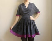 lillian--Tencel/Rayon and silk, V Neck Dress