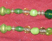 "16"" Green Beaded ID Lanyard - FREE SHIPPING"