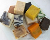 Organic Soap Sampler Set, 6 Half Bars, Vegan, Cold Process