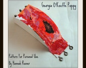 Hannah Rosner cuff bracelet bead pattern peyote stitch poppy