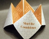 New Years Favor, New Years Card, New Years Decoration, Happy New Year, New Years Eve, Cootie Catcher