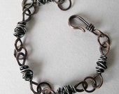 Urban Mixed Metal Bracelet in Copper and Silver - dancingraindesigns