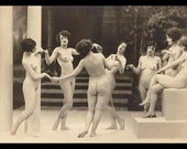 Mature Victorian Risque Women Nude Dance Vintage French Photograph Giclée ...