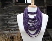 Rich Purple Jersey Infinity Scarf