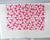 Pink Triangle Mania screen printed fabric