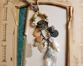 RESERVED - Daughter of the starry twilight - Romantic tribal assemblage necklace - artisan jewelry