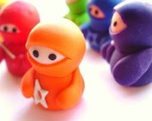 Set of 6 Rainbow Ninja Companions - Lilley