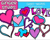 Sweet Hearts Digital Clip Art