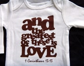 Greatest is Love White Bodysuit