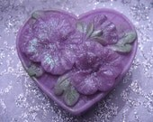 Purple Pansy - Pansy Soap -  Pansies  - Organic Soap - Vegan Soap - Glycerin Soap -  Moisturizing Soap -  Soap Bar -   Pansy Scent
