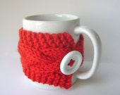 Red Cup Cozy, Mug Cozy, Tea Cozy, Bright Red Coffee Cozy