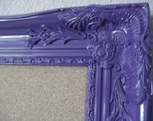FRAMED Cork Board-PURPLE-Any Color-42x30 Xtra Lg Ornate Vintage Frame Bulletin Board-Memo Board-Magnetic Chalkboard-Wedding-Seating Chart