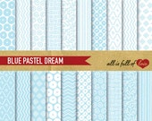 Digital Paper Pack BLUE PASTEL DREAM